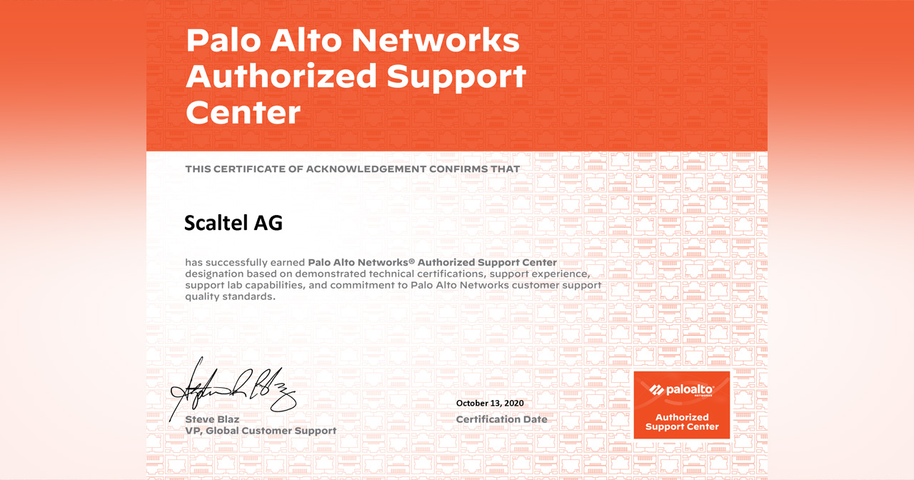 Palo Alto Authorized Support Center